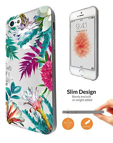 c0996 - Beautiful Tropical Plants Flora Palm Flowers Beach Summer Holiday P Design iphone SE 2016 / iphone 5 5S Fashion Trend Leichtgewicht Hülle Ultra Slim 0.3MM Kunststoff Kanten und Rückseite Prote