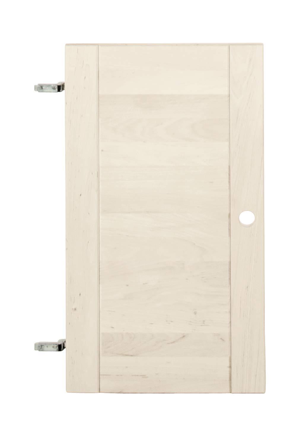 BioKinder 24146 Lara Tür Regaltür rechts/Links aus Massivholz Kiefer weiß lasiert, Maße:200 cm