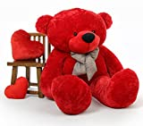 CLICK4DEAL LOVEABLE HUGABLE SOFT 4 FEET LONG HUGE RED TEDDY BEAR(best for someone special) 122CM