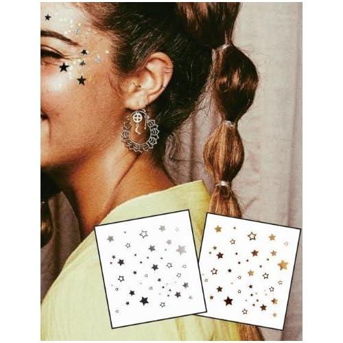 Tatouage Métalliques de visage Tatouages Flash Bijoux de Visage f10 Convient pour les fêtes, spectacles, concerts, performance scénique.