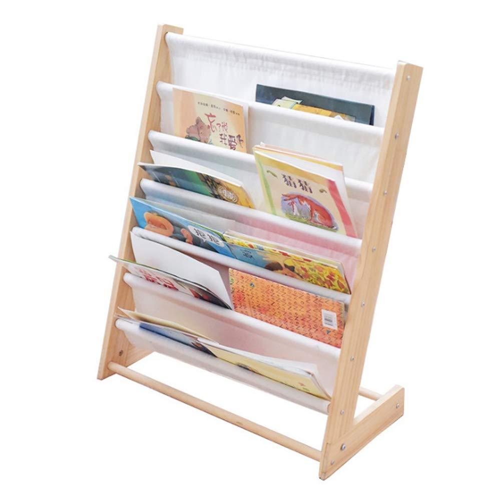 Gentil Amazon.com: Canvas Floor Bookshelf, Kids Wood Picture Book Storage Rack Space  Saving Book Display Stand White: Home U0026 Kitchen