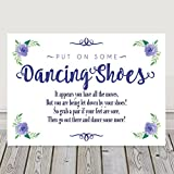 Dancing Shoes Tired And Sore Feet Wedding Table Sign Available In A Range Of Pastel Colours (Navy Blue (N10)) by Purple Scrunch