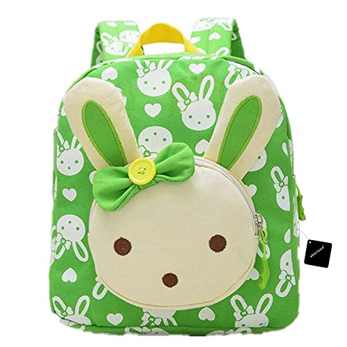 xhorizon TM FL1 3D Rabbit Baby Book Backpack Toddler Girls School Bag (Cyan - Cyan Bags