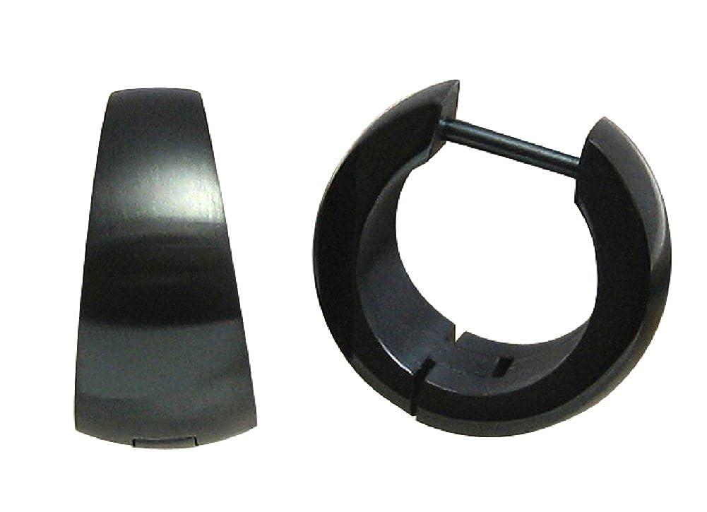Boucles doreille cr/éoles en acier inoxydable Noir mat /étui de incurv/é Cr/éoles Gouttes Boucles doreilles Boucles doreilles pendantes