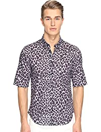 Mens Lenny Leopard Slim Fit Shirt