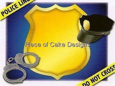 [1/4 Sheet ~ Police Officer ~ Edible Image Cake/Cupcake Topper!!!] (Police Officer Party Supplies)