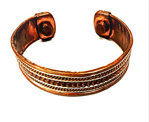 RK'S Pure Copper Designer Adjustable diameter Panjabi Sikh Kada/Bracelet for Men - Pure Brass Bangle