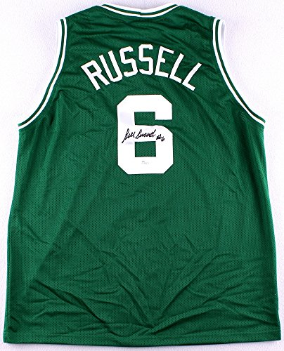 Autographed Authentic Green Jersey - Bill Russell Autographed Green Celtics Jersey - Hand Signed By Bill Russell and Certified Authentic by JSA - Includes Certificate of Authenticity