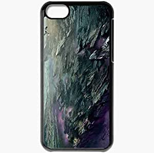 Personalized iPhone 5C Cell phone Case/Cover Skin Art Canyon Canyon Rocks Glow Lightning Black