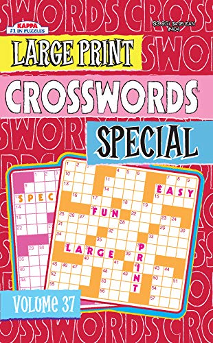 Large Print Crosswords Special Puzzle Book-Volume 37