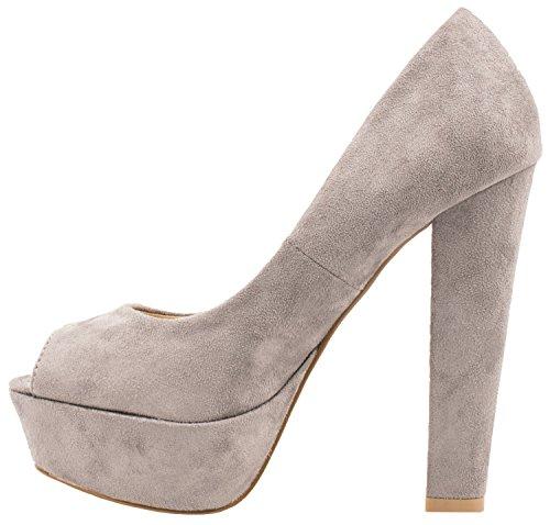 Elara - Pantuflas de caña alta Mujer gris