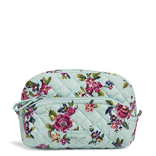 - Vera Bradley Iconic Mini Cosmetic, Signature Cotton, Water Bouquet