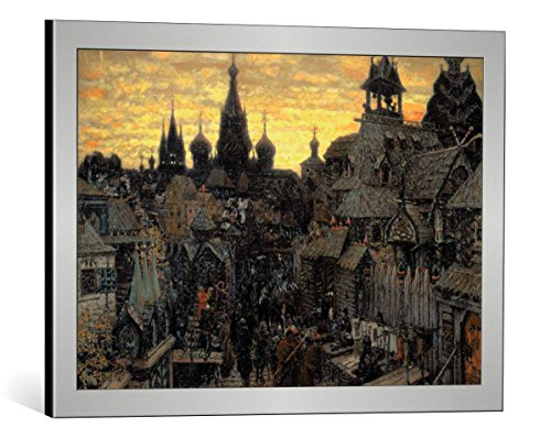 kunst für alle Framed Art Print: 17. Jahrhundert Alt-Moskau - Decorative Fine Art Poster, Picture with Frame, 25.6x17.7 inch / 65x45 cm, Silver Brushed