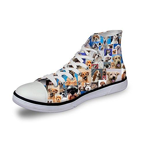 陽気な骨コミュニケーション3Dプリント スニーカー キャンバス 帆布 カジュアル 靴 シューズ 動物柄 人気 個性的 軽量 通気 おしゃれ ファッション 通勤 通学 プレゼント ThiKin
