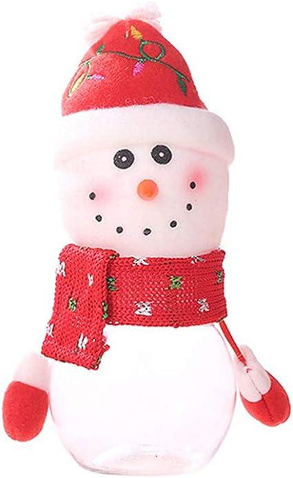 Amosfun Scatola di Caramelle di Natale con Finestra Scatola di Caramelle Barattoli di Biscotti Vuoti Scatola Regalo di Metallo di Natale per Le Feste di Festa Biscotti Piccole Torte