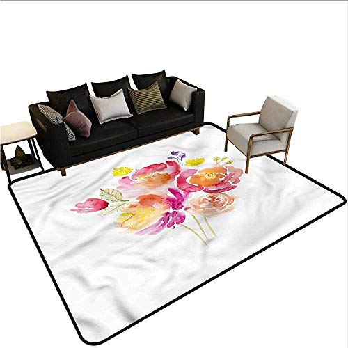 (Pastel,Floor Mats for Living Room 60