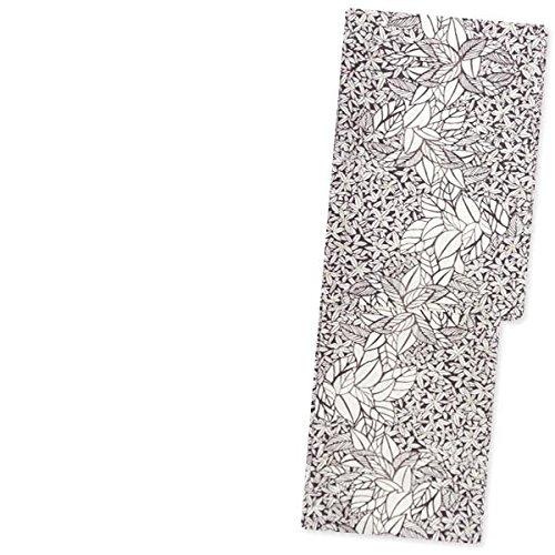 洗える着物 単衣【ダークブラウン こげ茶色に木の葉 15219】S/M/L/TLサイズ 小紋 単品 仕立て上がり ポリエステル オリジナルブランド