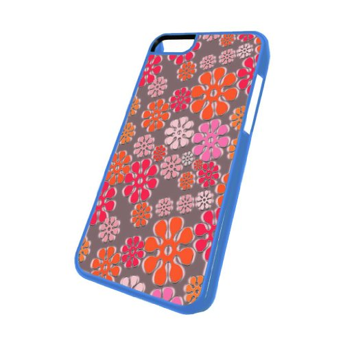 Flower Power Pattern - iPhone 5c Glossy Blue Case
