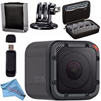 GoPro HERO5 Session CHDHS-501 + Custom GoPro Case for GoPro HERO and GoPro Accessories + Tripod Adapter For GoPro Bundle