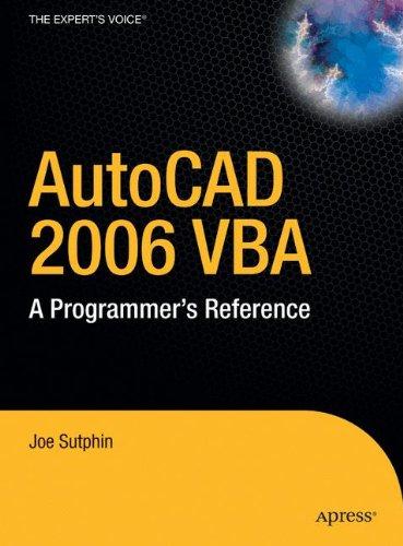 Download AutoCAD 2006 VBA: A Programmer's Reference pdf epub