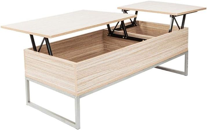 Mesa de café con elevador de color de grano de madera con ...