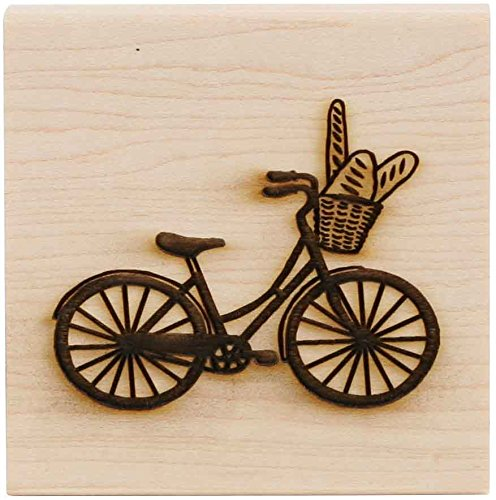 Bicycle Rubber Stamp - CLEARSNAP Wood Mount Stamp 3