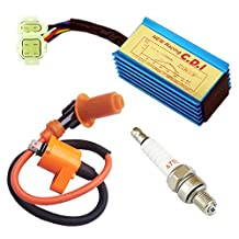 High Performance Racing Ignition Coil + Spark Plug A7TC + CDI GY6 50cc - 125cc 150cc 4-stroke Engines Scooter ATV Go Kart Moped Quad Pit Dirt Bike