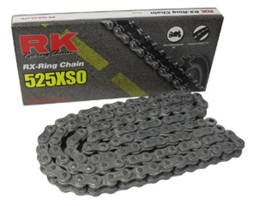 RK Racing Chain 525XSO-118 118-Links X-Ring Chain with Connecting Link by RK Racing Chain