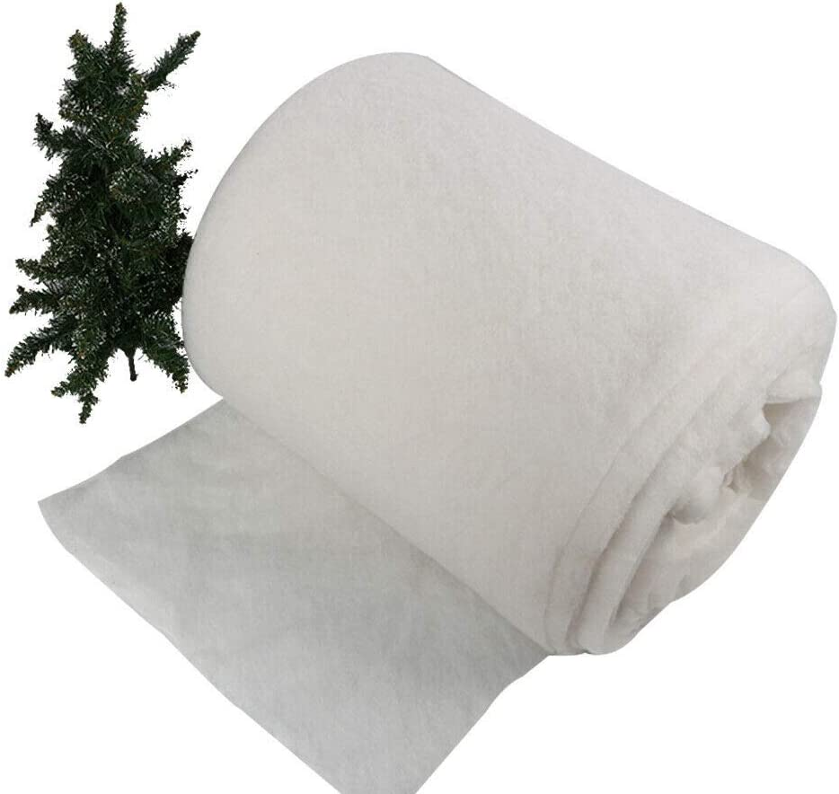 50Meters Roll Fake Snow Christmas nativity soft white blanket artificial