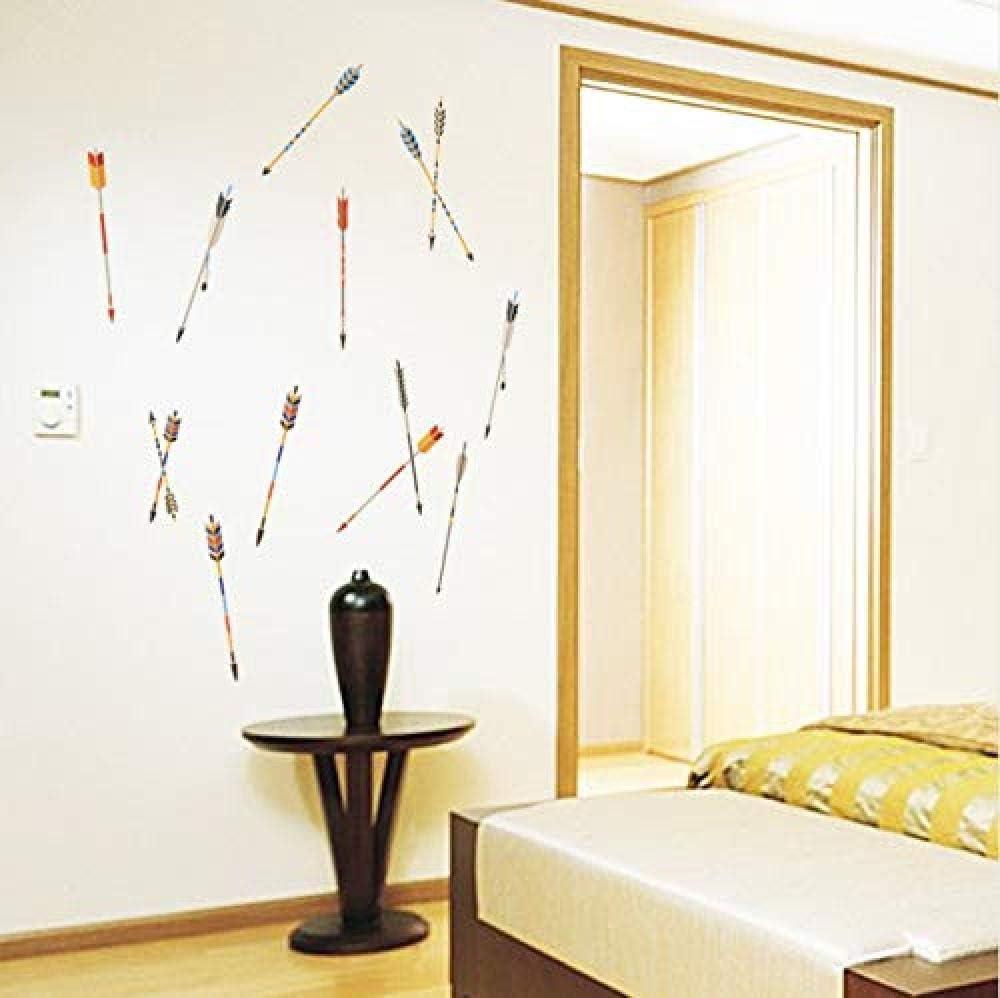 Pegatinas de pared Flecha colorida Decoración para el hogar Sala
