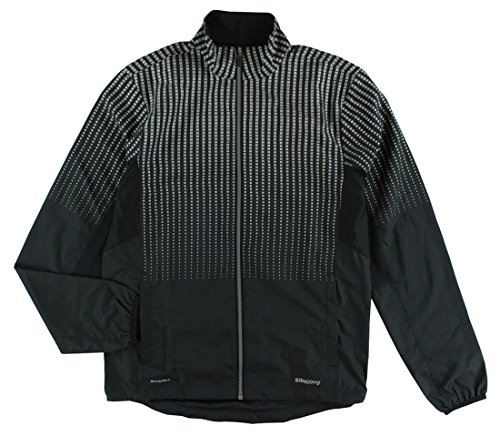 Saucony Men's Sonic Reflex Jacket, Black, Small (Sonic Saucony)