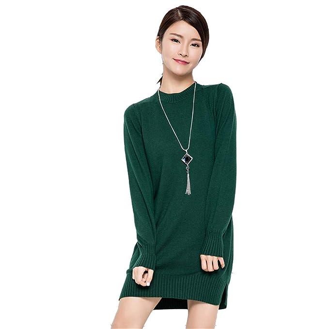 Shirloy Maglione da donna con collo alto e maglione caldo