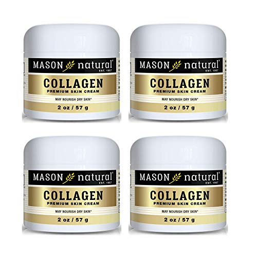 Collagen Beauty Cream Made with 100% Pure Collagen Promotes Tight Skin Enhances Skin Firmness 2 OZ. Jar PACK of four