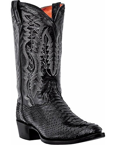 Dan Post Mens Omaha Round Toe Black Boots 9