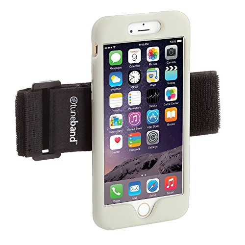 TuneBand LITE for iPhone 7 PLUS Premium Sports Armband with Silicone Skin and Armband (GLOW) by Grantwood Technology
