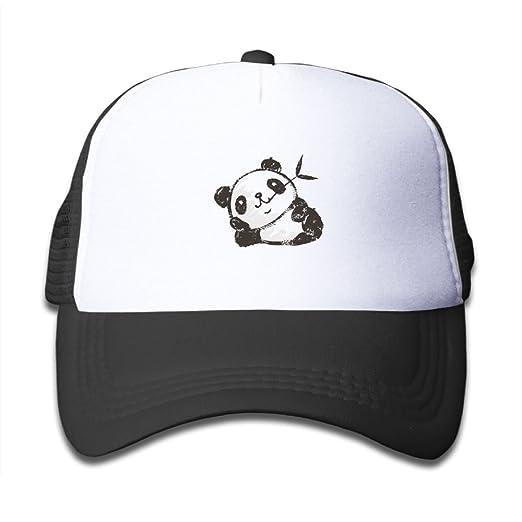 Z Cheing Adjustable Boy and Girls Panda Resting Baseball Cap Mesh Kids Hats 798e17c079d