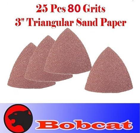 Pack 25 Sandpaper Oscillating Multi Tool Bosch 80 Grits Finger Sand Paper