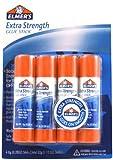 ELMERS Extra Strength Office Glue Sticks, 0.28 oz Each, 4 Sticks per Pack (E5010)