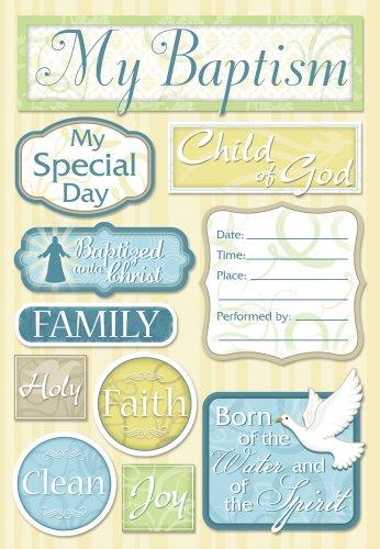 - KAREN FOSTER Design Acid and Lignin Free Scrapbooking Sticker Sheet, My Baptism