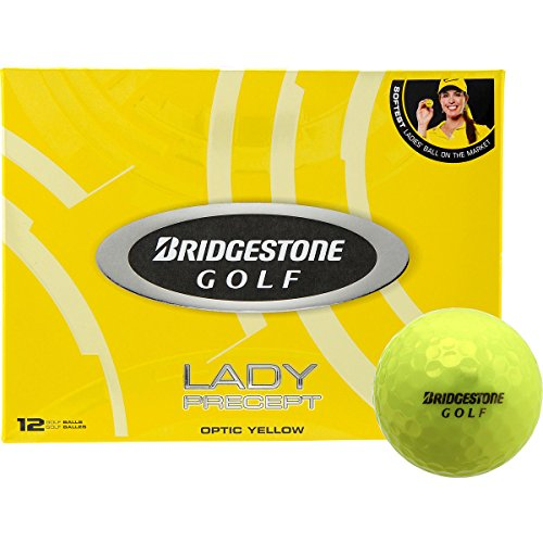 (Bridgestone Lady Precept Yellow Golf Balls 12-Pack Yellow)