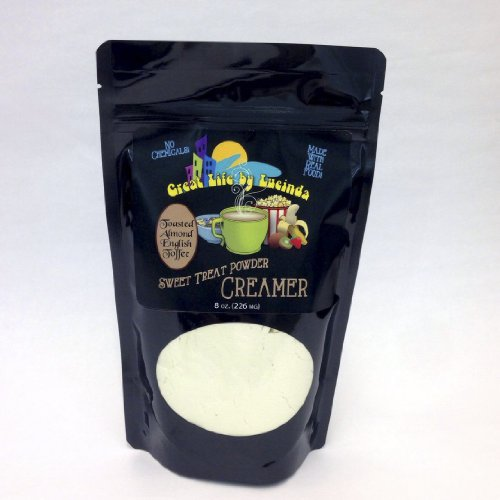 Great Life By Lucinda All Natural Gourmet Coffee Creamer English Toffee - 8 Ounce Package (Pack of 2)