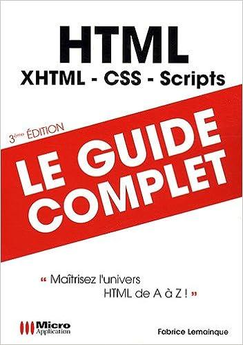 En ligne téléchargement HTML : Maîtriser l'univers HTML de A à Z pdf