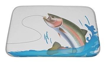 Gear New Badematte Fur Badezimmer Memory Foam Rutschfeste Fisch