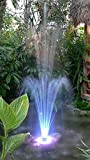 Custom Pro 1500 Fountain with Multi-Color 120 LED Light Ring, Energy Efficient Pump, 3 Spray Nozzles, Telescoping Riser & 33 Foot Power Cords
