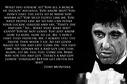 Amazoncom Tomorrow Sunny Scarface Al Pacino Tony Montana Quotes