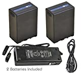 Kastar Battery 2 Pcs and Dual D-Tap Fast Charger for Sony BP-U90 BP-U95 BP-U96 BP-U60 BP-U65 BP-U66 BP-U68 BP-U30 BC-U1 BC-U2 Sony PMW-150P XDCAM EX HD422 PHU-60K PXW-Z450 PXW-Z190 PXW-Z280 Camcorder