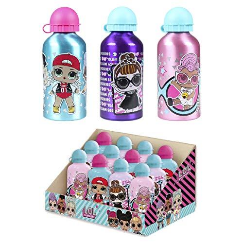 Cerdá, Botella de Aluminio para Agua con Capacidad Color Lila-Licencia Oficial LOL Surprise Unisex niños, Lilac, 500 ML…