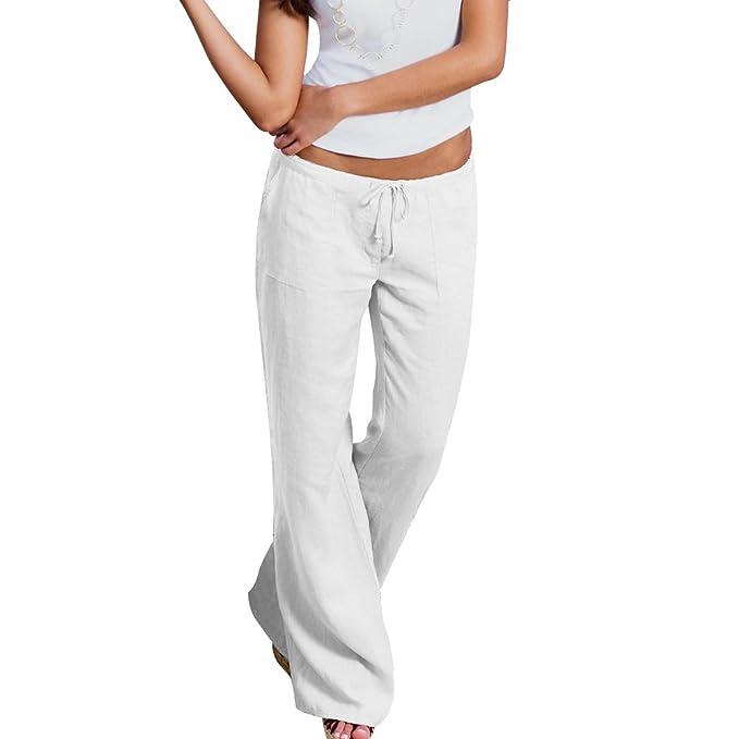 ShallGood Mujer Casual Pantalones Verano Suave Cómodo ...