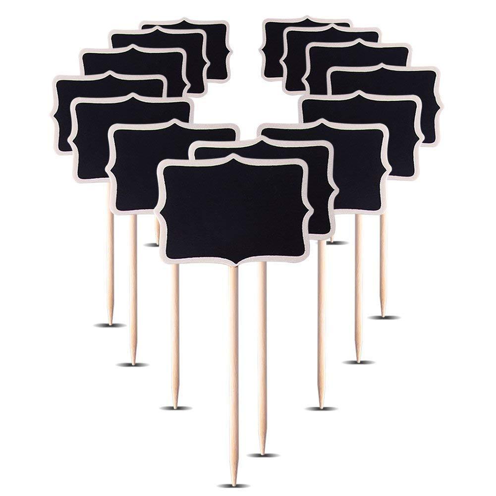 """AUSTOR 14 PCS Mini Chalkboard Stakes Blackboard Plant Tags, 3.15"""" x 2.36"""""""
