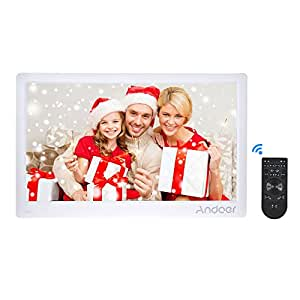 Digital Photo Frame, Andoer 17inch HD LED Digital Photo Frame Album Support Shuffle Play with Remote Control Suitable for Home and Office Best Gift